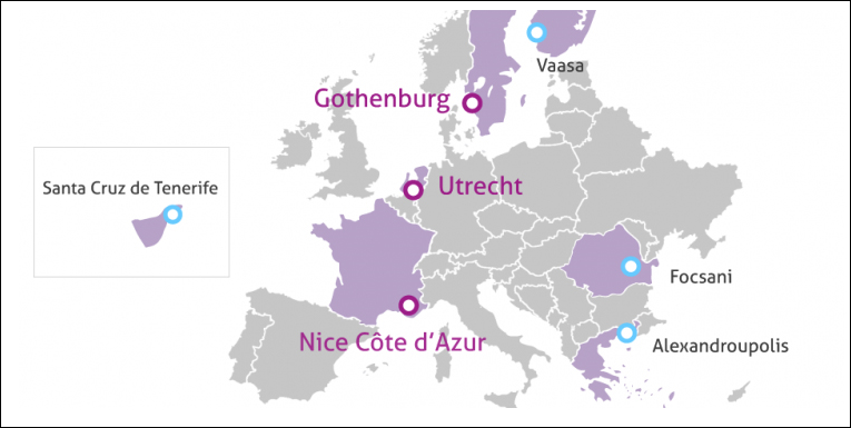 kaart europa iris steden
